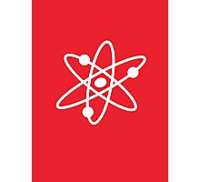 The Big Bang Theory Atom Logo 2 (in white) Photographic Print