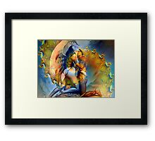 Twin Flame Love Framed Print