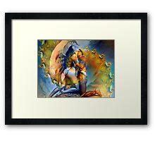 Twin Flame Love Framed Print