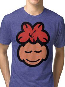 Cute Sleeping Face Tri-blend T-Shirt