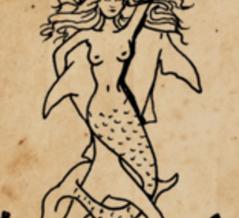 Mermaid Tarot Sticker: Strength Sticker