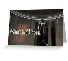 Thomas Jefferson Principle Liberty America Greeting Card