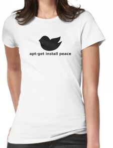 apt-get peace Womens Fitted T-Shirt