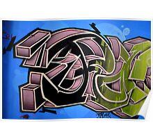 Graffiti up close  Poster