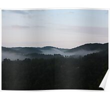 sunrise in the Blue Ridge Mountains Poster