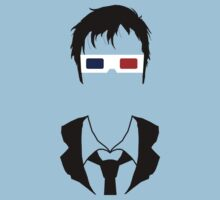 Tenth Doctor Silhouette Kids Tee