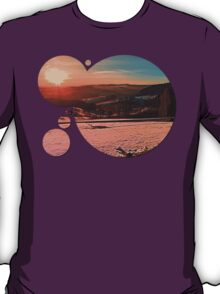 Colorful winter wonderland sundown II | landscape photography T-Shirt