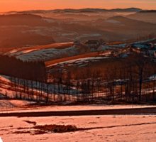 Colorful winter wonderland sundown II | landscape photography Sticker