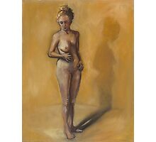 Painting of a woman after breast removal surgery (mastectomy) Photographic Print