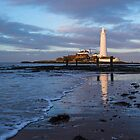 Shoreline, St Mary's Lighthouse by John Dunbar
