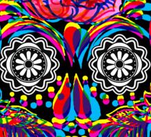 Skullduggery in Black - outline Sticker