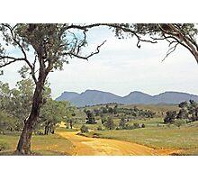 Winding road - Flinders Ranges Way Photographic Print