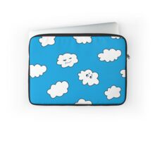 Blue Sky Happy Funny Clouds  Laptop Sleeve