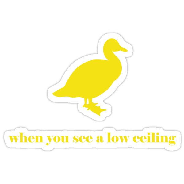 Duck When You See A Low Ceiling by CreativeEm