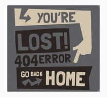 You're lost , go back home (404 ERROR) One Piece - Long Sleeve