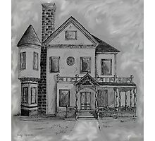 Victorian House in Pen and Ink Photographic Print