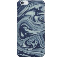 Antique Marbled Paper Blue White iPhone Case/Skin