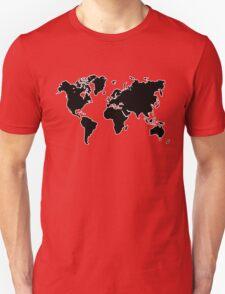 world map monde T-Shirt