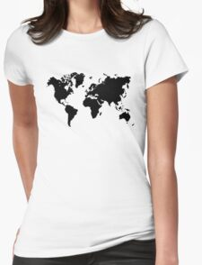 world map monde Womens Fitted T-Shirt