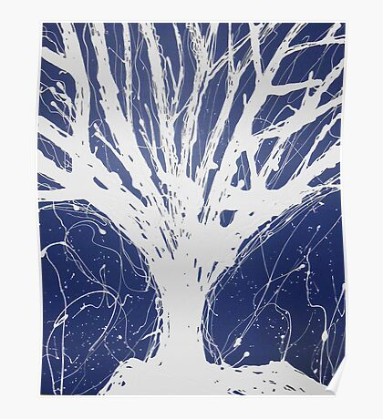 Abstract Tree Painting by Parrish Lee Poster