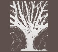 Abstract Tree Painting by Parrish Lee One Piece - Short Sleeve