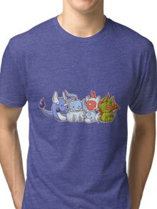 Pokemon Group Tri-blend T-Shirt