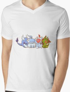 Pokemon Group Mens V-Neck T-Shirt