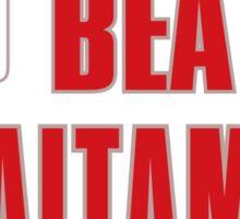 Training to beat saitama Sticker