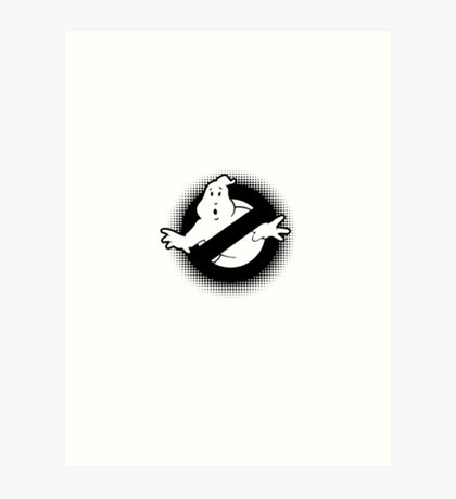 Original Ghostbusters Halftone Logo (in black and white) Art Print