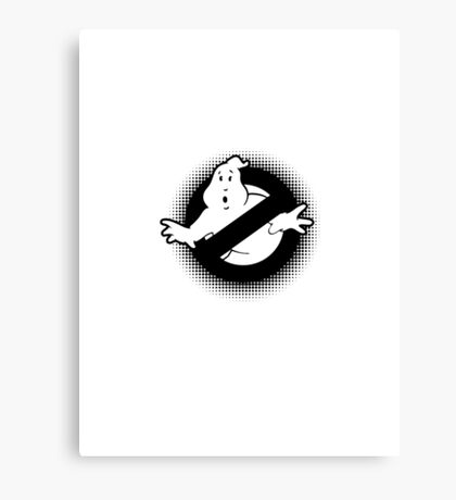 Original Ghostbusters Halftone Logo (in black and white) Canvas Print