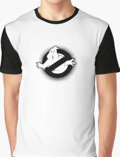 Original Ghostbusters Halftone Logo (in black and white) Graphic T-Shirt