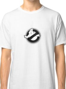Original Ghostbusters Halftone Logo (in black and white) Classic T-Shirt