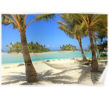 Hammock and Palms - Bora Bora Poster