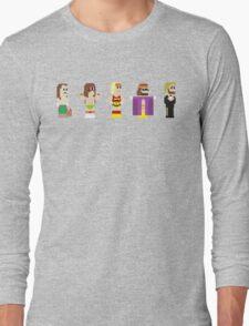 8-Bit Pro Wrestling Long Sleeve T-Shirt