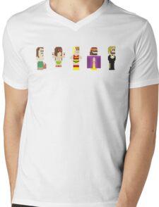 8-Bit Pro Wrestling Mens V-Neck T-Shirt