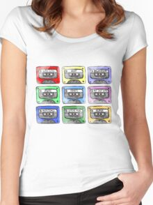 80's Tape Cassette Tee Women's Fitted Scoop T-Shirt