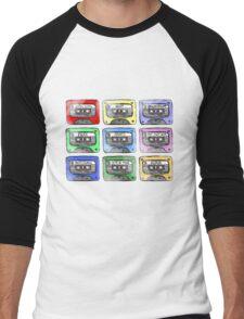 80's Tape Cassette Tee Men's Baseball ¾ T-Shirt