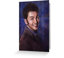 David Tennant as the 10th Doctor Greeting Card