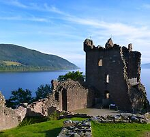 Urquhart Castle on Loch Ness by Scotland2008