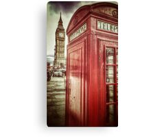 Big Ben and Red Box Canvas Print