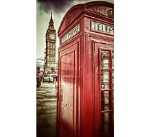 Big Ben and Red Box Photographic Print