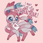 Sylveon Valentine's Day Card by everlander