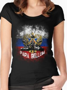 Si vis pacem para bellum russia w. white font Women's Fitted Scoop T-Shirt