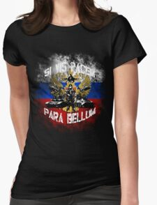 Si vis pacem para bellum russia w. white font Womens Fitted T-Shirt