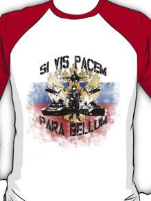 Si vis pacem para bellum russia w. black font T-Shirt