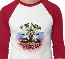 Si vis pacem para bellum russia w. black font Men's Baseball ¾ T-Shirt