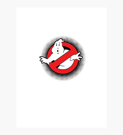 Original Ghostbusters Halftone Logo (in colour) Photographic Print