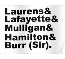 Hamilton Revolutionaries (black) Poster