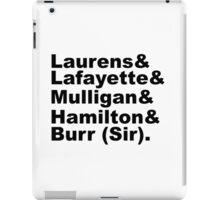 Hamilton Revolutionaries (black) iPad Case/Skin