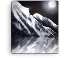Icy Hills Under Moon Canvas Print